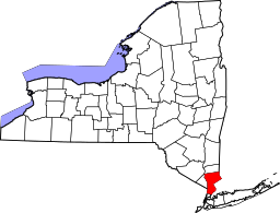 NY State map with Westchester County highlighted.